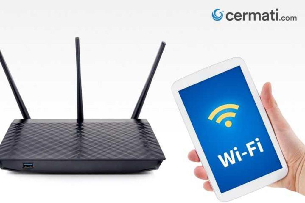 Penguat Sinyal WiFi Posisi Router