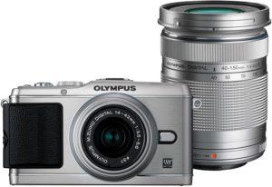 Kamera Mirrorless Olympus PEN E-P3 Kit 14-42mm + 40-150mm