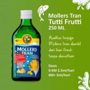 Minyak Ikan Moller's Cod Liver Oil With Fruit Flavor