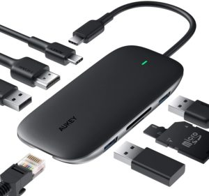 Aukey CB-C71 Link Power Delivery USB-C Hub