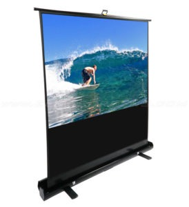 Layar proyektor Brite Floor Handy Pull Up Screen