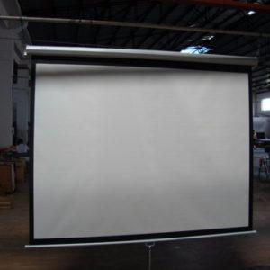 "Layar proyektor Matt White Projector Screen 100"""