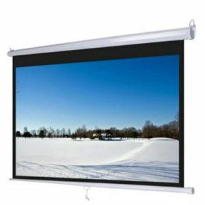 Layar proyektor Screen Projector Manual Wall 60