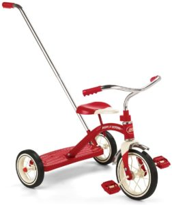 Radio Flyer Classic Red Tricycle with Push Handle 34T