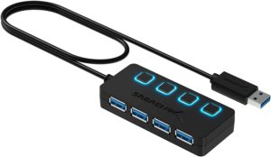 Sabrent 4 Port USB 3.0 Hub With Power Switches
