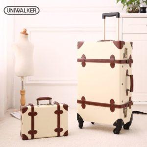 Tas Koper Uniwalker Vintage Luggage 20 Inch