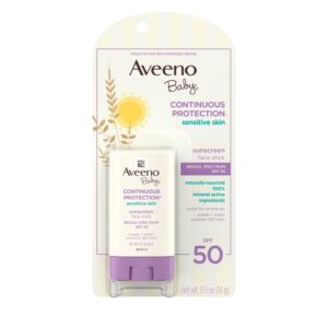 Johnson & Johnson Aveeno Baby Continuous Protection Sensitive Skin Face Stick