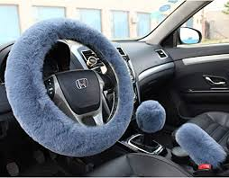 Valleycomfy Wool Steering Wheel Covers