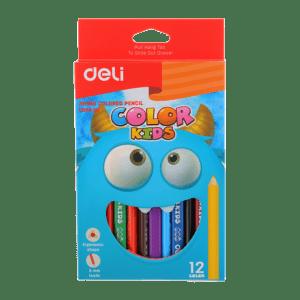Deli EC00600 Color Kids Jumbo Colored Pencil 12C