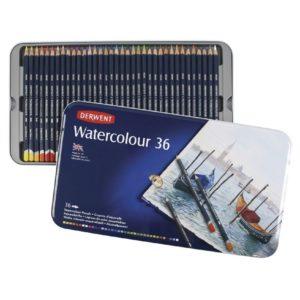 Derwent Watercolour Pencils 36 Tin