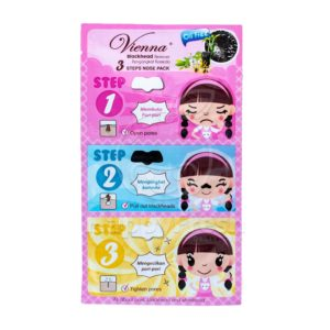 Vienna Blackhead Remover 3 Step Nose Pack