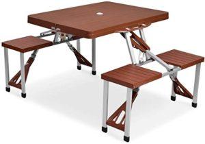 Atria Portable Folding Picnic Table & Seats Hobbit
